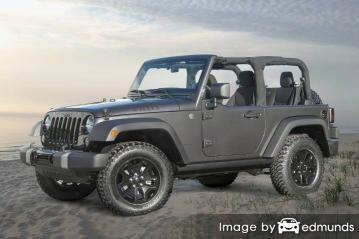 Insurance rates Jeep Wrangler in Louisville